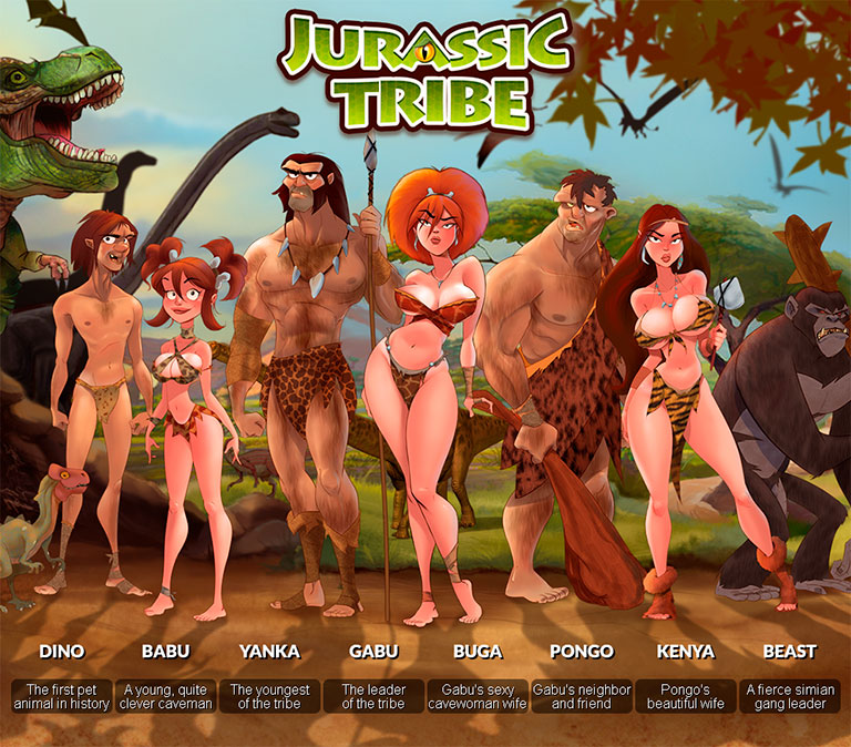 Jurassic Tribe - header mobile