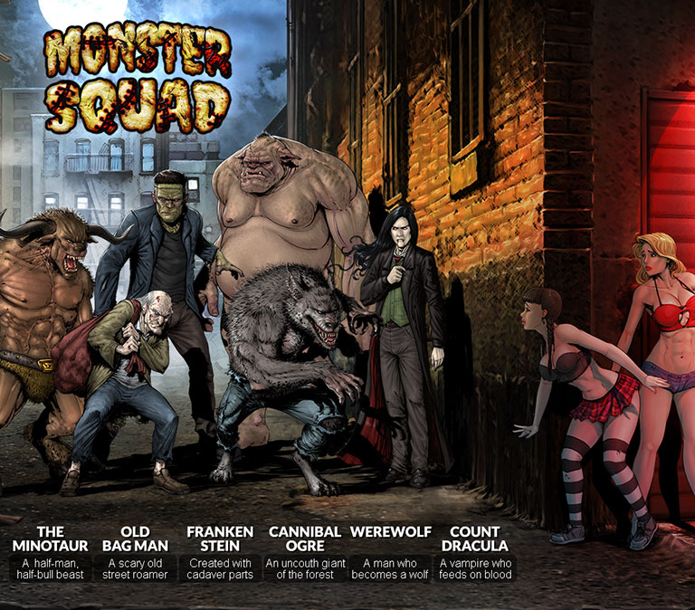 Monster Squad - header mobile