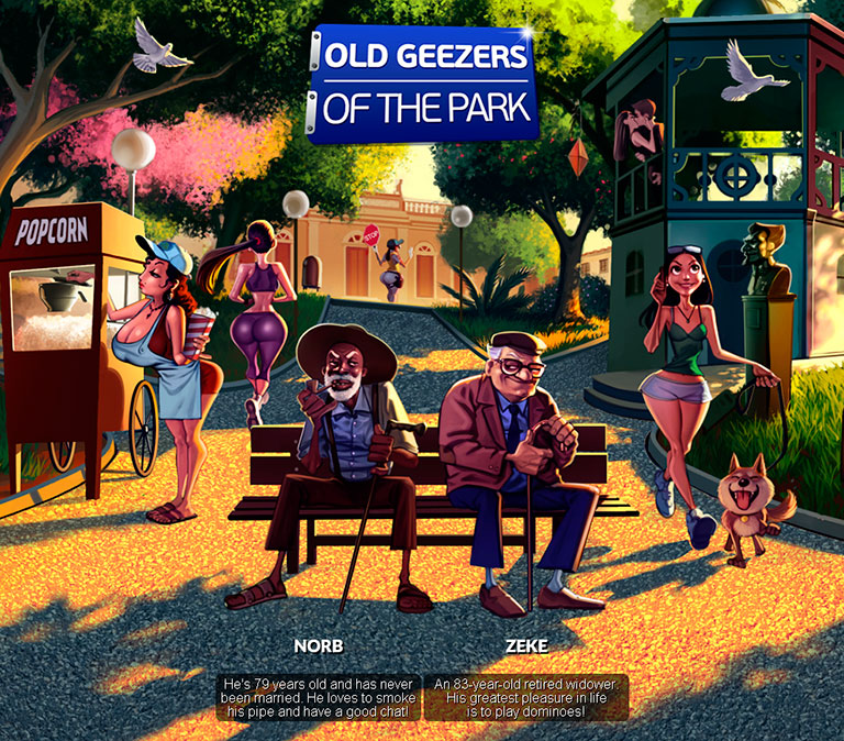 Old Geezers of the Park - header mobile