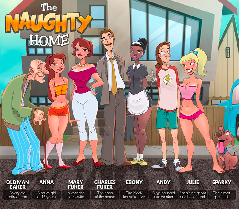 The Naughty Home - header mobile