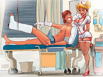 A smoking hot nurse - Animated Tales