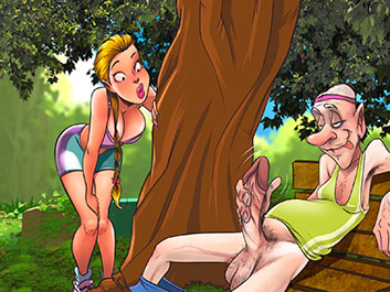 An old pervert fucked me in the park - Animated Tales