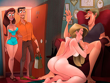 Animated Tales - Orgy in our neighbor's apartment
