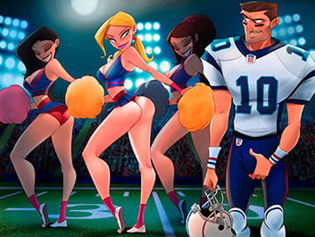 Pornographic adventure at the Super Bowl - Animated Tales
