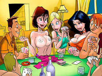 Animated Tales - Strip poker with my busty friends