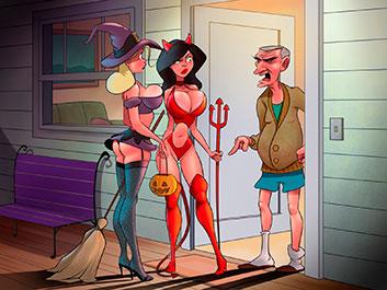 Tricks and treats on Halloween night - Animated Tales