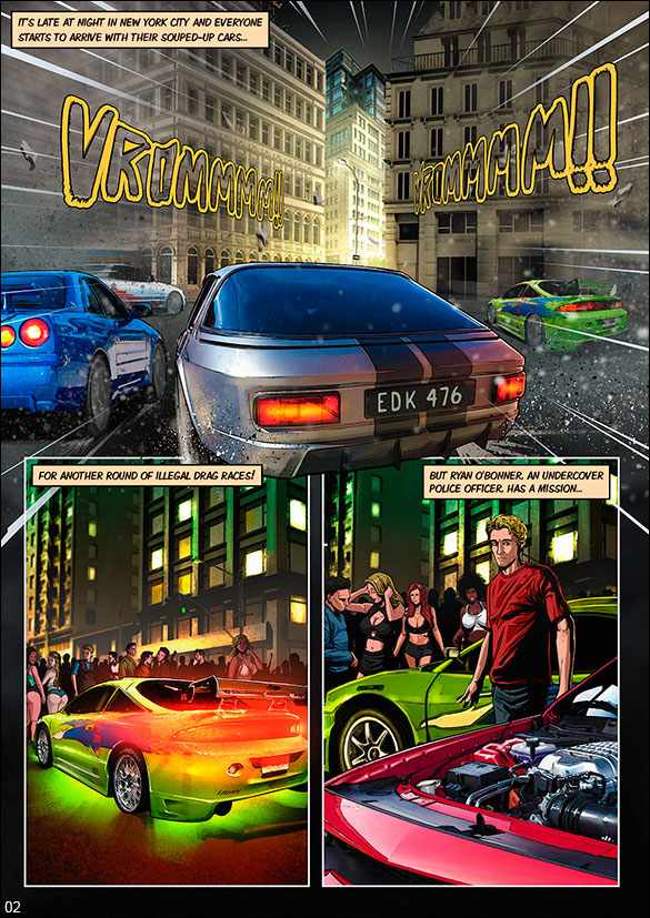 Blockbuster Comics - The Fast and the Furious - page 2