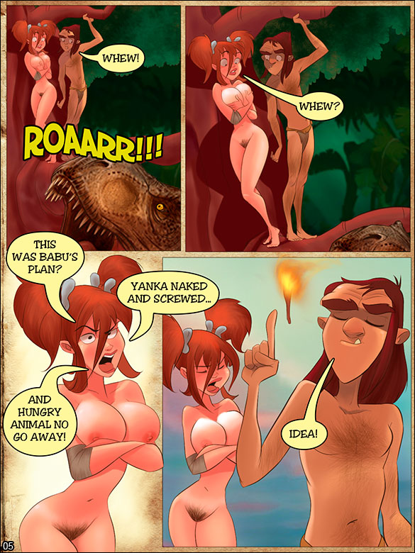 Jurassic Tribe - Running from the Tyrannosaurus - page 5