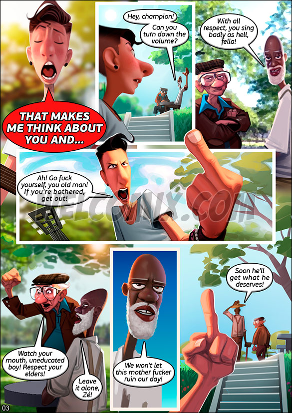 Old Geezers of the Park - Love Serenade - page 3