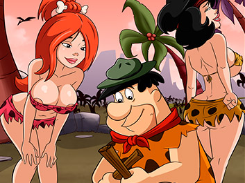 Lost and naked in the jungle - The Flintstoons