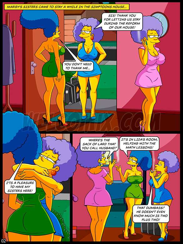 The Simptoons - In the bathtub with the aunts - page 2