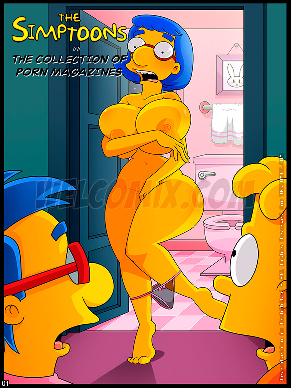 The Simptoons - The collection of porn magazines - page 1