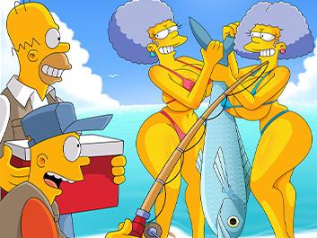Orgy on the fishing trip - The Simptoons