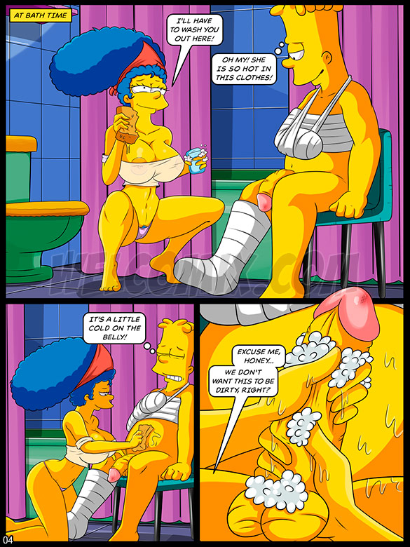 The Simptoons - Caring for the injured boy - page 4