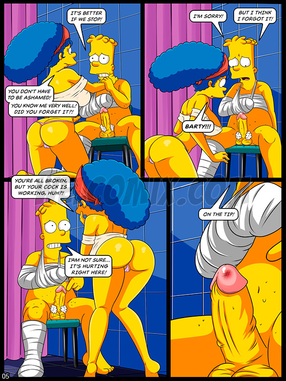 The Simptoons - Caring for the injured boy - page 5