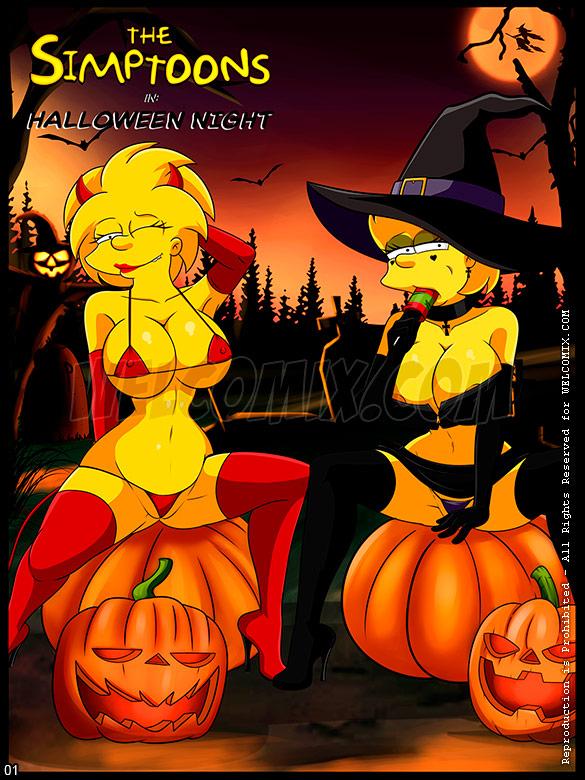 The Simptoons - Halloween night - page 1