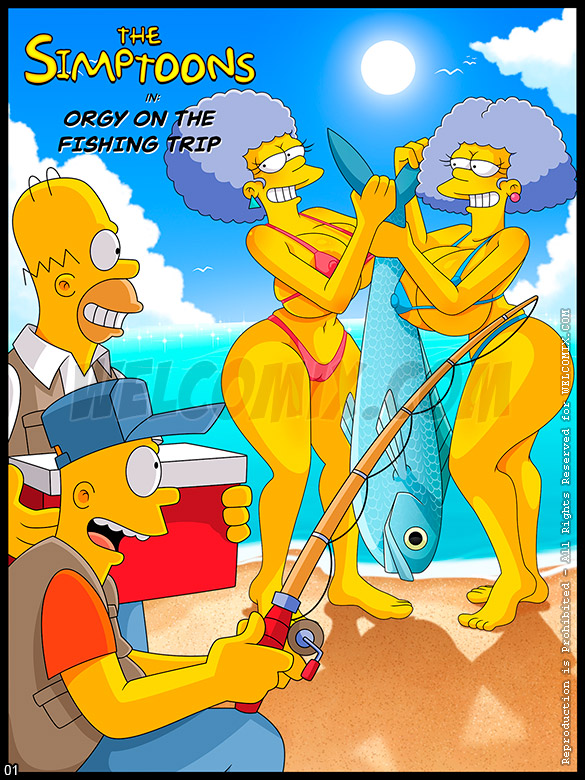 The Simptoons - Orgy on the fishing trip - page 1
