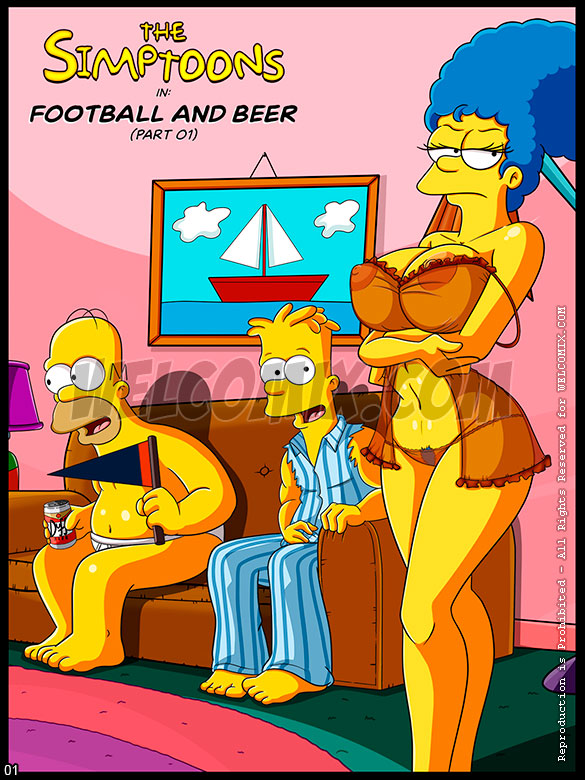 The Simptoons - Football and Beer (Part 01) - page 1